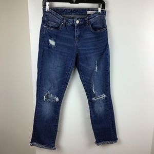 Blank NYC | Deep Cuff Straight Distressed Jeans